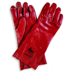 GLOVES AND ACID-PROOF RED...