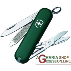 VICTORINOX CLASSIC SD ARMY KNIFE KEYCHAIN MULTIPURPOSE COLOR GREEN MM. 58