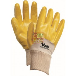 VIGOR GLOVES JAP NITRILE YELLOW AERATED CE2 SIZE M - XXL