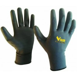 GLOVES VIGOR JAP PE-54 POLYURETHANE GREY