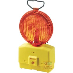 LAMP FOR ROAD BLINKING YELLOW GLASS, DIAM 18 WITH MOUNTING BRACKET WITHOUT A BATTERY