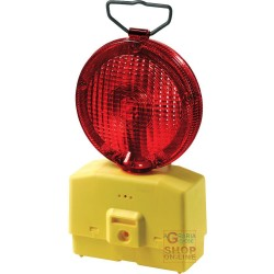 LAMP FOR ROAD BLINKING RED GLASS, DIAM 18 WITH MOUNTING BRACKET WITHOUT A BATTERY