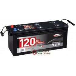 LONGLIFE CAR BATTERY 120Ah SIGGILLATA WITHOUT MAINTENANCE