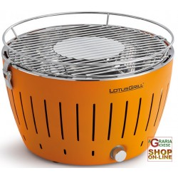 LOTUSGRILL LOTUS GRILL BARBECUE DA TAVOLO PORTATILE PER ESTERNO ORANGE ARANCIO