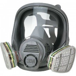 GAS MASK 3M 6800 CE FACIAL WITH POLYCARBONATE VISOR WITHOUT FILTERS