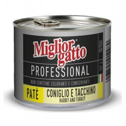 MIGLIORGATTO PATE PROFESSIONAL RABBIT AND TURKEY GR.200