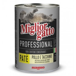 MIGLIORGATTO PATE PROFESSIONAL CHICKEN AND TURKEY GR.400