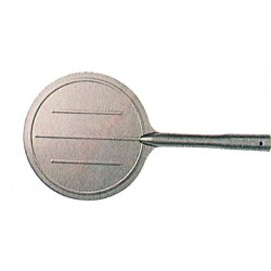 SHOVEL FOR OVEN IN STAINLESS STEEL FOR ROUND PIZZA OR PALINO SICKLES DIAM. 19 WITH THE HANDLE
