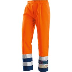 PANT V-40% POLYESTER 60% COTTON WITH BANDS OF RETRO-REFLECTIVE 3M COLOR ORANGE BLUE TG 46 60