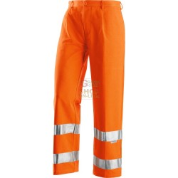 PANTS ORANGE REFLEX HIGH VISIBILITY COTTON AND POLIESTRE SIZE TG. 44 TO 64
