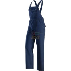TROUSERS WITH BIB BY WORK MADE WITH FABRIC 100% COTTON TG. S TO XXL