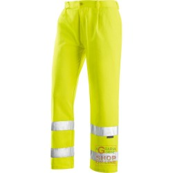PANTS V-40% POLYESTER 60% COTTON GR 240 SQUARE METERS APPROX WITH BANDS 3M COLOR YELLOW TG 44 64