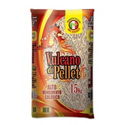 PELLETS FOR STOVES, VOLCANO HIGH HEAT OUTPUT KG. 15