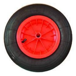 VIGOR WHEELS FOR WHEELBARROW PLASTIC RIM 100LT PNEUMATIC