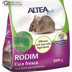 RODIM - FRESH BAIT rat poison-RODENTICIDE FOR DOMESTIC AND CIVIL gr. 200