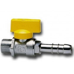 TAP the RIGHT BALL FOR fuel GAS, MALE / HOSE connector CIM 170 DIAM 1/2F x 13 mm.