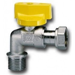 FAUCET BALL GAS TEAM FOR WATER HEATER, WITH HANDLE, MALE/FEMALE, CIM 185PG DIAM. 1/2x1/2