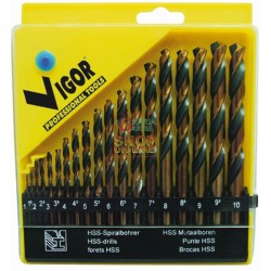 VIGOR SERIES DRILLS HSS BI-ACTION METAL PC. 19 MM 1-10