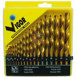 VIGOR SERIES DRILLS HSS TITANIUM METAL PCS. 19 MM 1-10