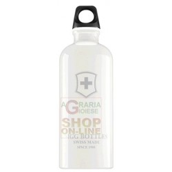 SIGG BOTTLE WATER BOTTLE ALUMINIUM WHITE SWISS EMBLEM YOU SC60.01 LT. 0,6