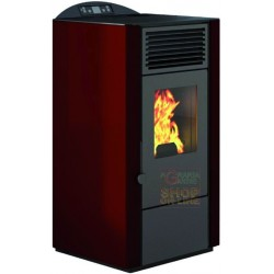 PELLET STOVE FIRE POINT LORY-10 KW. 9,0 RED COLOR