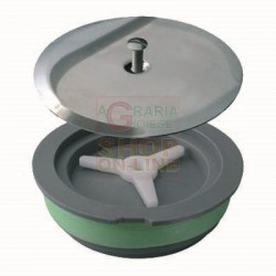 CAP FOR EXPANSION WITH HEAVY COVER, DIAM. 120 MM CHROME-PLATED BRASS