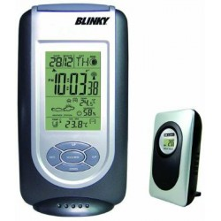 THERMOMETER BAROMETER DIGITAL WITH REMOTE SENSOR WIRELESS WIRELESS