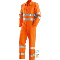 SUIT V-40% POLYESTER 60% COTTON GR 240 SQUARE METERS APPROX WITH BANDS 3M COLOR ORANGE TG 46 60