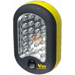 VIGOR LED FLASHLIGHT OVAL WITH HOOK 27 LED