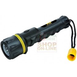 VIGOR LED FLASHLIGHT RB-3L RUBBER 2AA 15 LMN