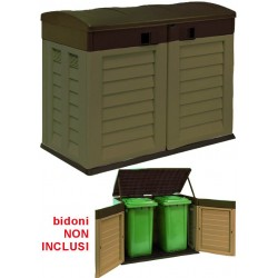 TRUNK GARDEN VIGOR DOUBLE DOOR OPENING GARBAGE CANS, cm. 146x87x119h.