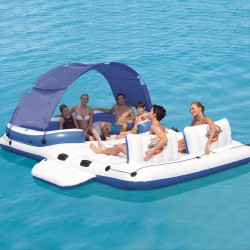 BESTWAY 43105 Floating Island Tropical Breeze Inflatable 6 Persons, Sea, Lake