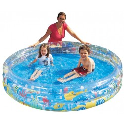 BESTWAY 51004 INFLATABLE SWIMMING POOL FOR CHILDREN, THREE RINGS, DEPTHS, DIAMETER CM. 152x30h