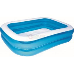BESTWAY 54005 INFLATABLE SWIMMING POOL, INFLATABLE FAMILY RECTANGULAR BLUE CM. 201x150x51