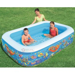 BESTWAY 54120B FAMILY POOL RECTANGULAR FISH CM. 229x152x56h.