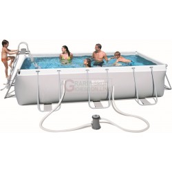 BESTWAY 56441 PISCINA CON TELAIO POWER STEEL FRAME CM.404x201x100h.