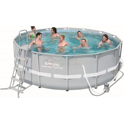 BESTWAY 56444 PISCINA CON TELAIO POWER STEEL FRAME CM.427x122h.