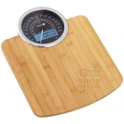 Weighing machine electronic eva DIG the DASHBOARD of bamboo kg. 180-100 gr.