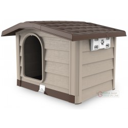 Kennel for medium dogs Bama Bungalow beige size cm. 89x75x62h.