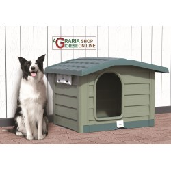 Kennel for medium dogs Bama Bungalow green size cm. 89x75x62h.