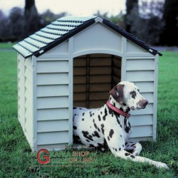 KENNEL FOR SMALL DOGS PLASTIC PVC CM.71x71x68h. REMOVABLE GREEN