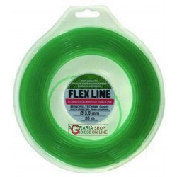WIRE FOR brush cutter FLEXLINE ROUND FROM mm. 3 mt. 60