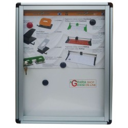 Bulletin board-ALUMINUM WITH MAGNETIC BOTTOM MM. 450x600x40