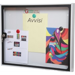 NOTICE BOARD IN METAL SHEET PAINTED MAGNETIC BOTTOM CM. 58x6X48h.