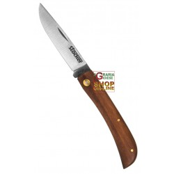 STOCKER FOLDING KNIFE HUNTING M WOODEN HANDLE BLADE STAINLESS STEEL CM. 8,5
