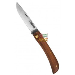 STOCKER FOLDING KNIFE HUNTING'S WOODEN HANDLE AND BLADE OF STAINLESS STEEL CM. 7