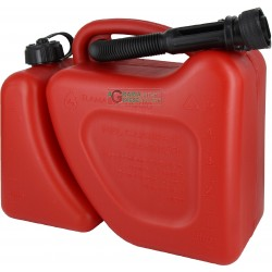 TANK FOR FUEL TRANSPORT GASOLINE OIL MIXTURE TWICE THE USE FOR CHAINSAW APPROVED LT. 5+2