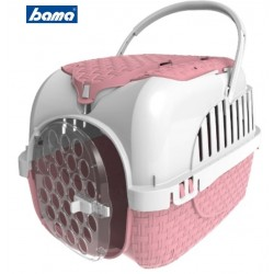 Pet carrier for dogs cats and bunnies Bama VOYAGER PINK equipped and full optional cm. 52x33x34h