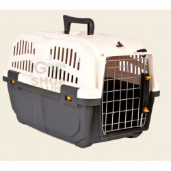 PET CARRIER FOR SMALL DOGS AND CATS SKUDO 2 WITH GRATE FOR IRON CM. 55 X 36 X 35.6