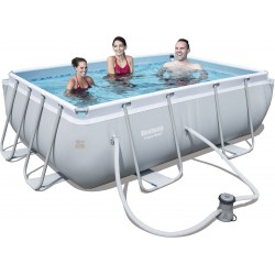 Bestway 56629 piscina con telaio Power Steel Frame cm. 282 x 196 x 84h